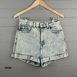 American Apparel Acid Wash Mom's Shorts Style
